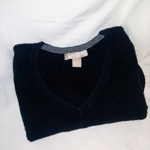 Banana Republic black fitted sweater
